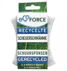 Ecoforce Gerecyclede Schuurspons krasvrij (2 stuks)