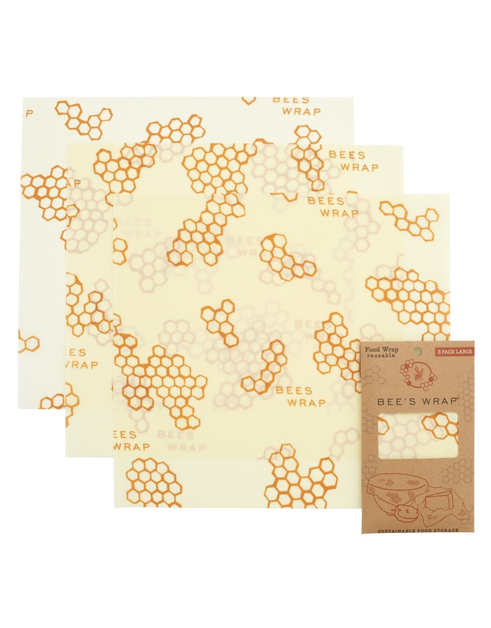 Bee's Wrap Bee's wrap 3-pack Large