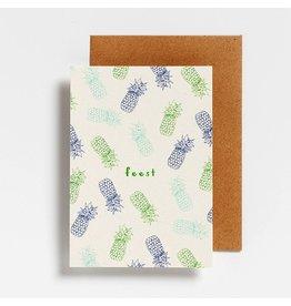 Hello August Postkaart - Feest