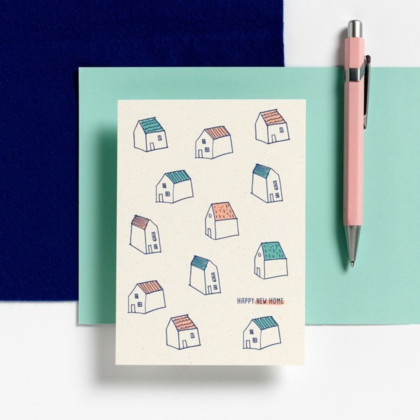 Postkaart - Happy New home