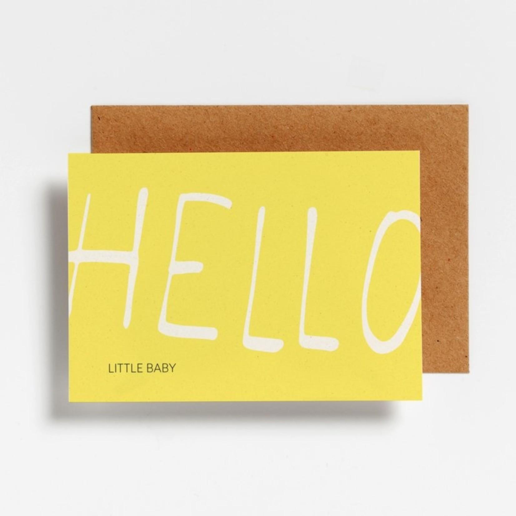 Postkaart - Hello little baby