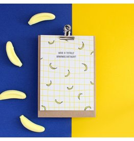 Hello August Postkaart - Have a totally bananas birthday