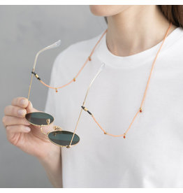 A Beautiful Story Violet Carnelian Gold glasses cord