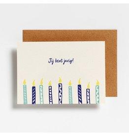 Hello August Postkaart - Jij bent jarig