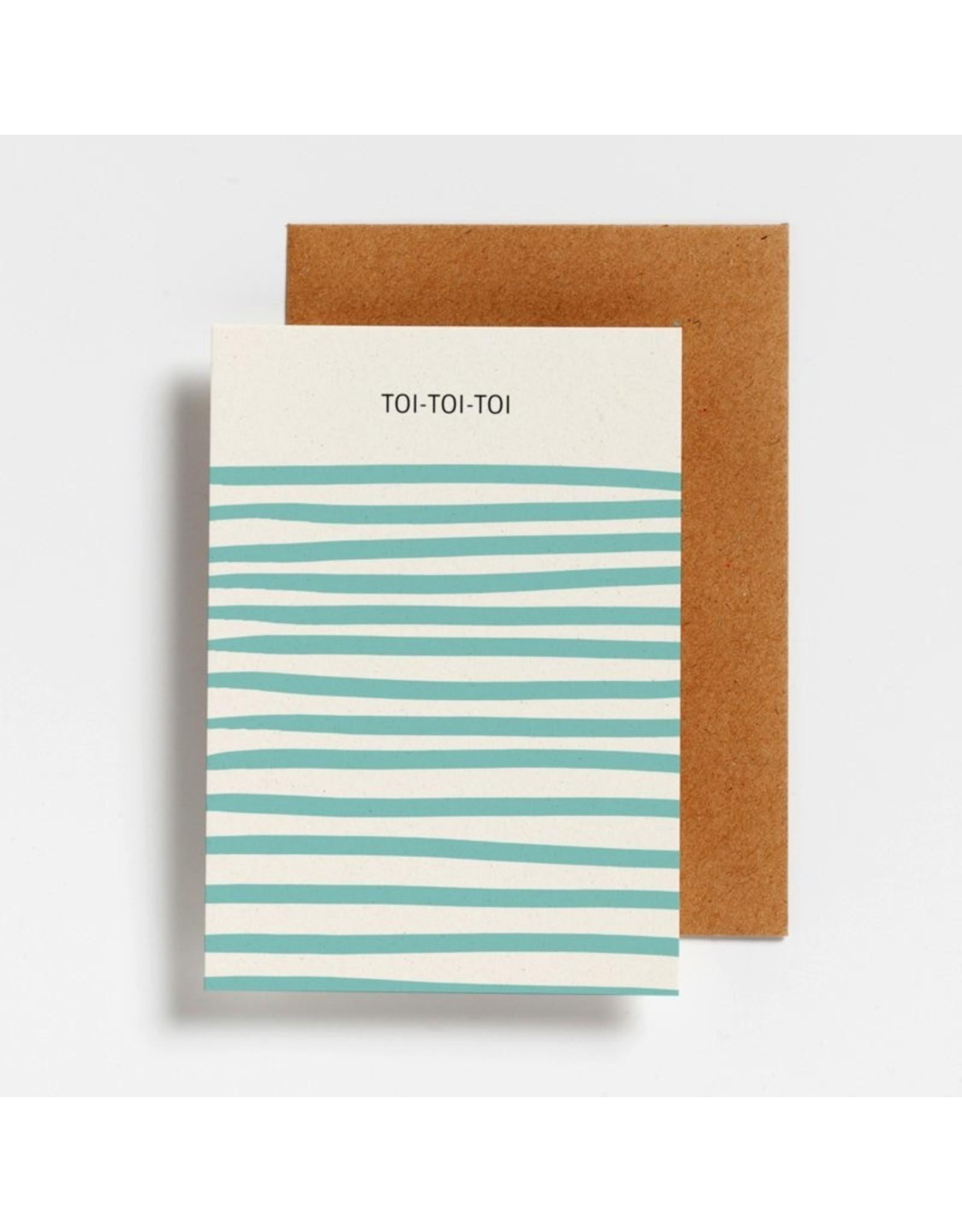 Hello August Postkaart - Toi Toi Toi