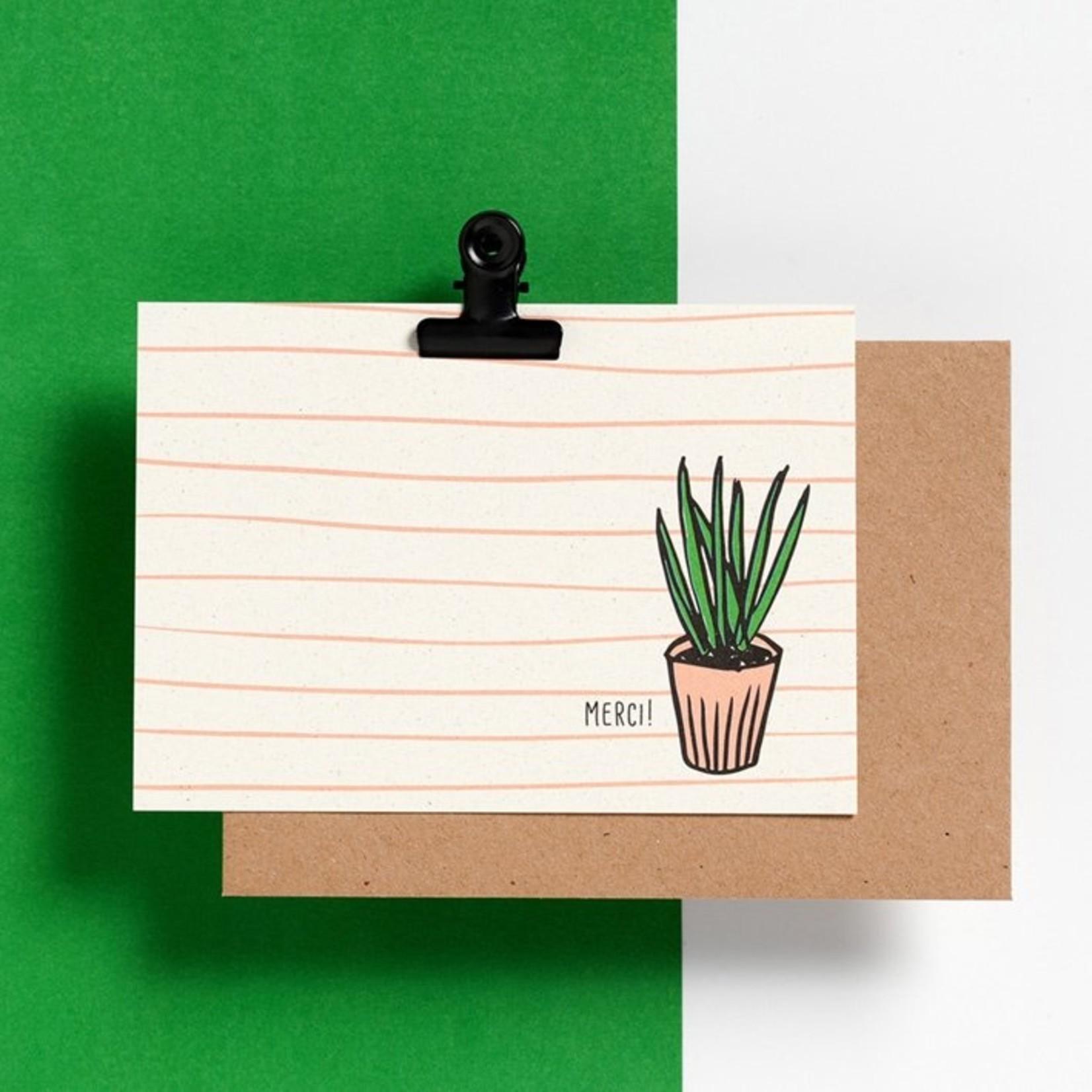 Postkaart - Merci!