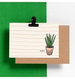 Hello August Postkaart - Merci!