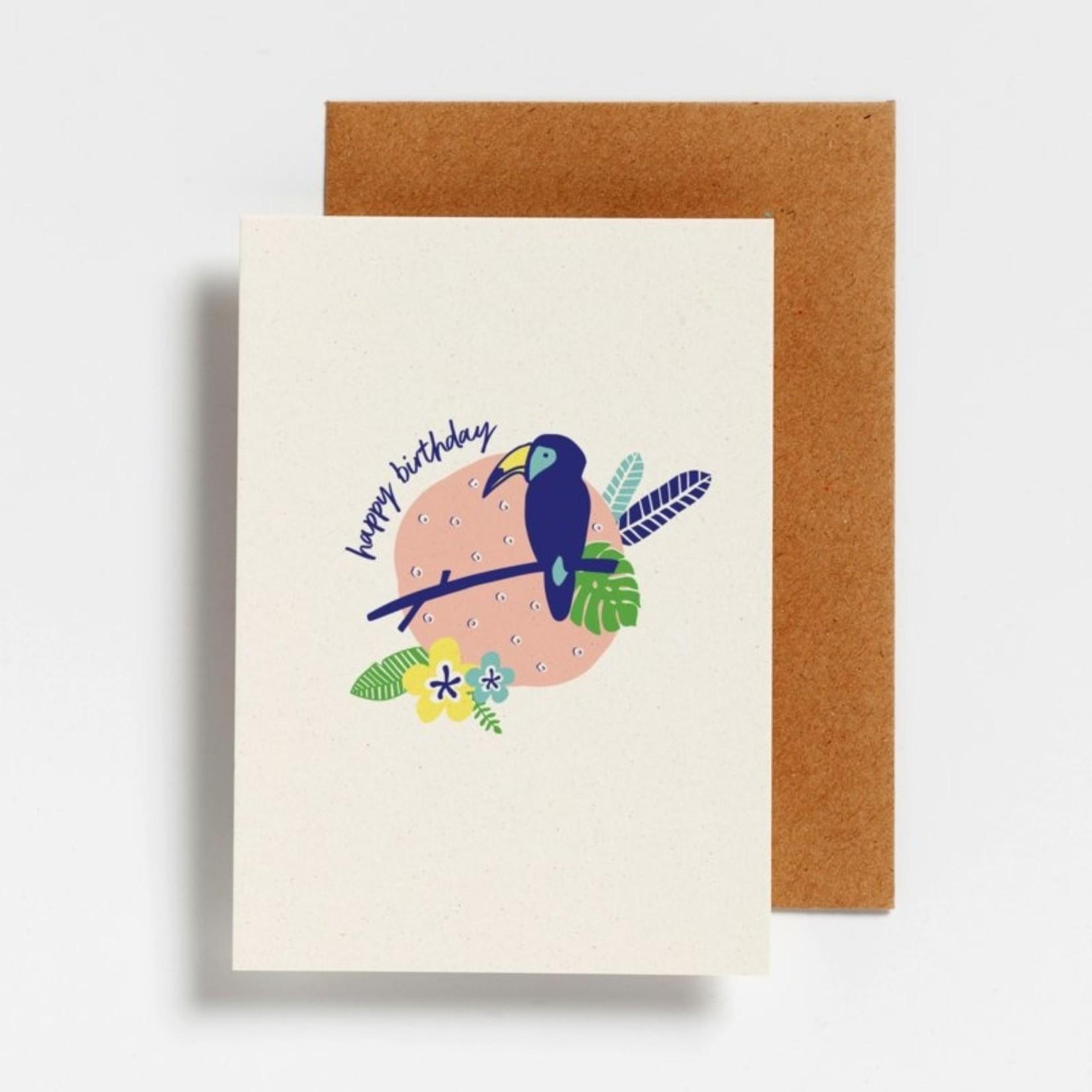 Postkaart - Happy Birthday Toekan