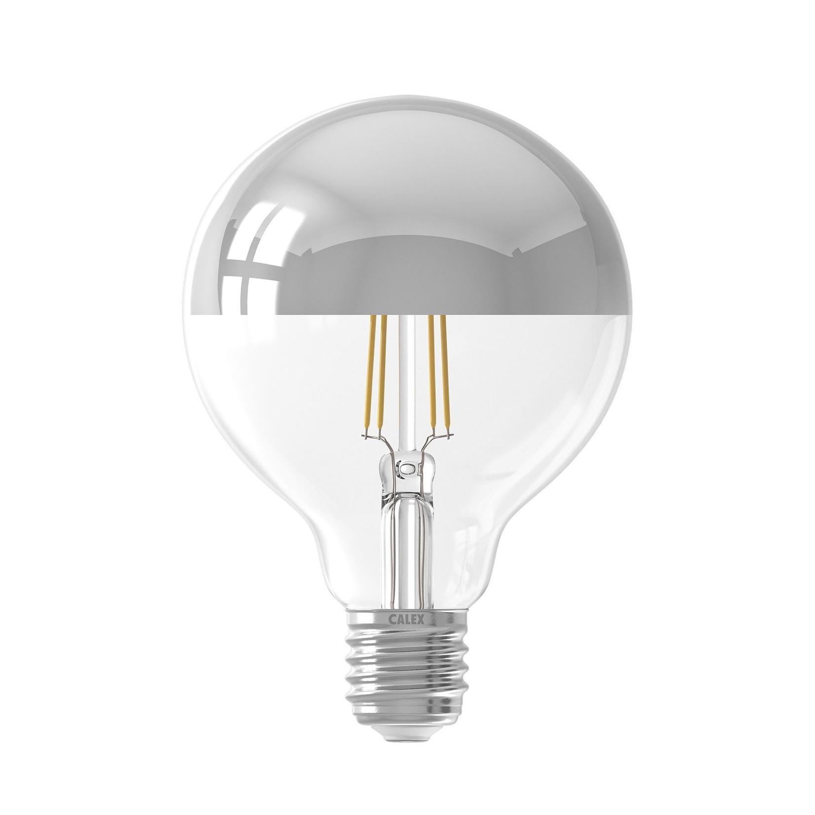 LED kopspiegel 95mm zilver 4W 230V E27 2300K