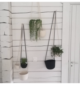 Koba Hanging Planter L Black