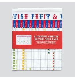 Seasonal Guide to British Fruit & Vegetables Tea Towel