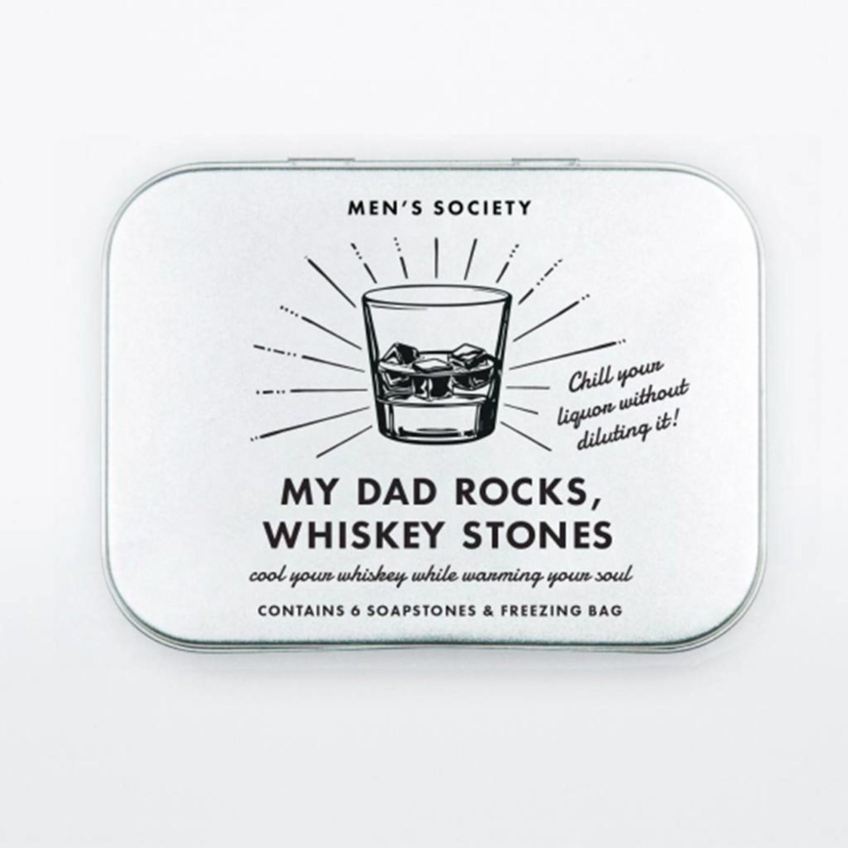 Men's Society My Daddy Rocks Whiskey stones