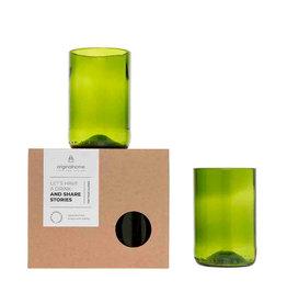 Original Home Upcycled groen drinkglas M (2st)