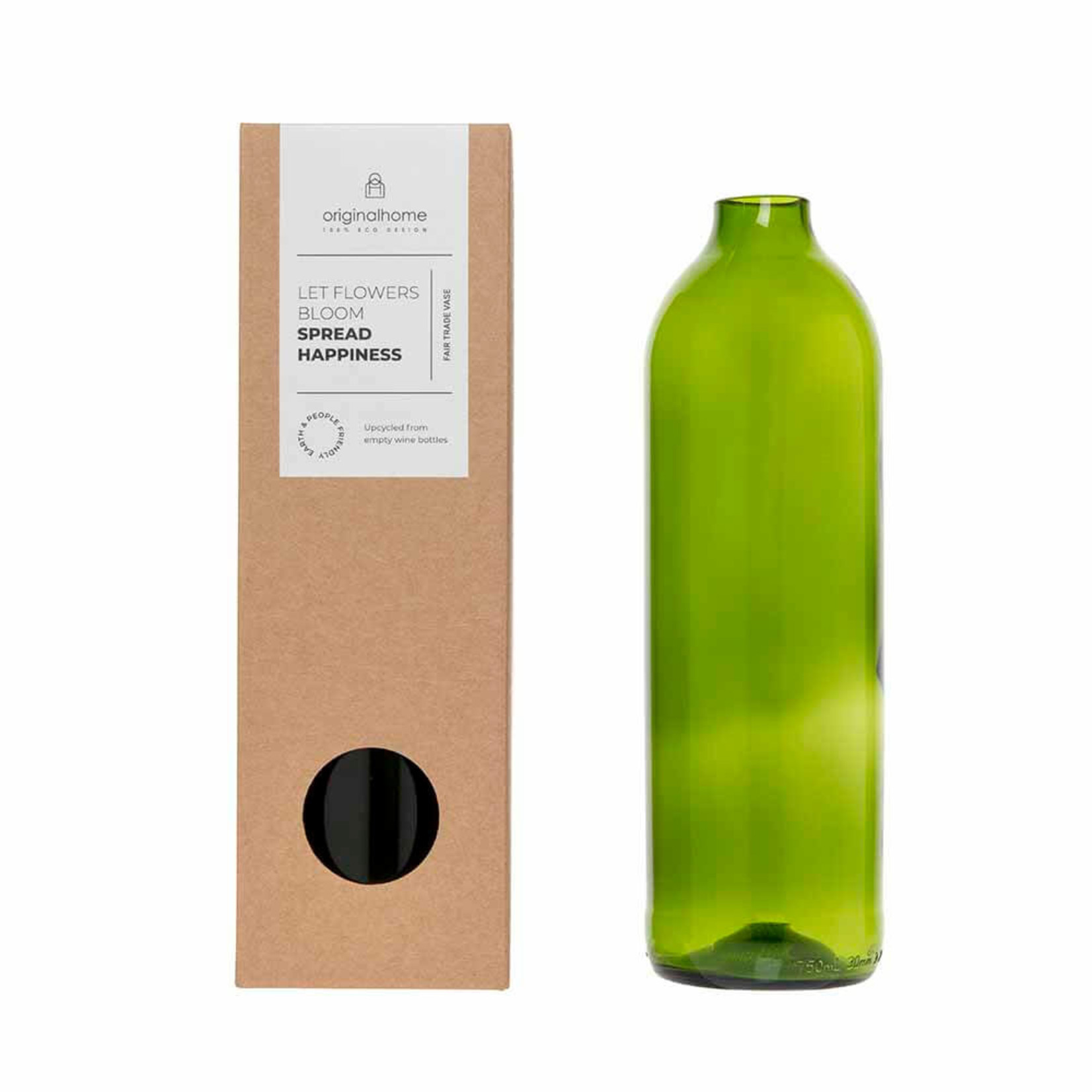 Original Home Bottle Vase - Green
