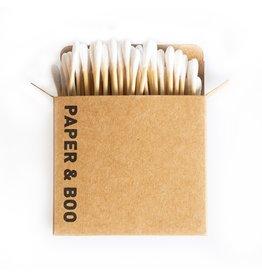 PAPER & BOO Bamboe wattenstaafjes (100 stuks)