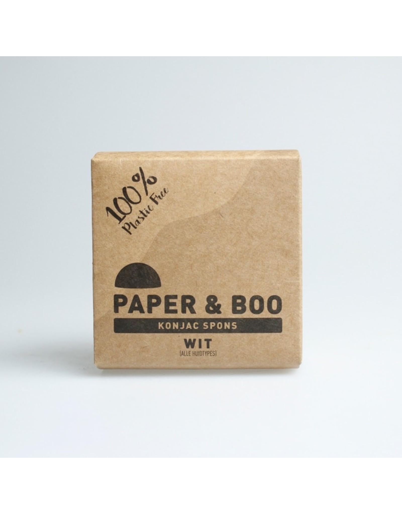 PAPER & BOO Konjac spons wit ( alle huidtypes )