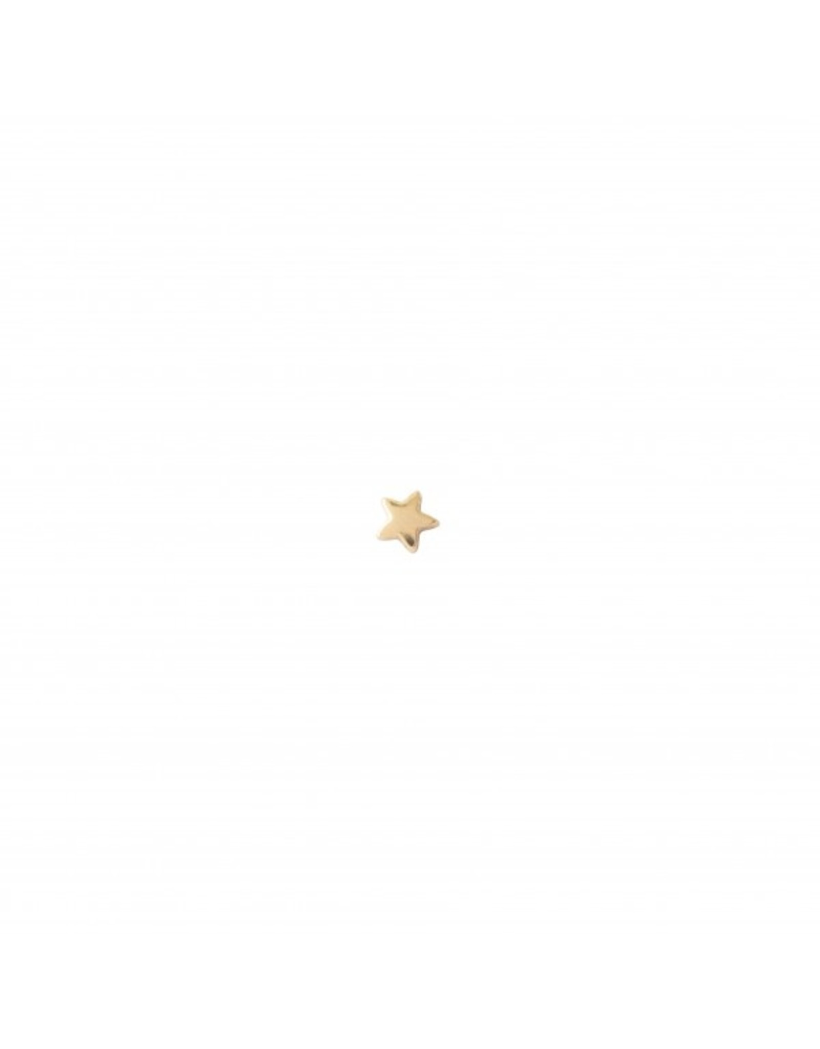 A Beautiful Story Star Sterling Silver Gold-Plated Earring