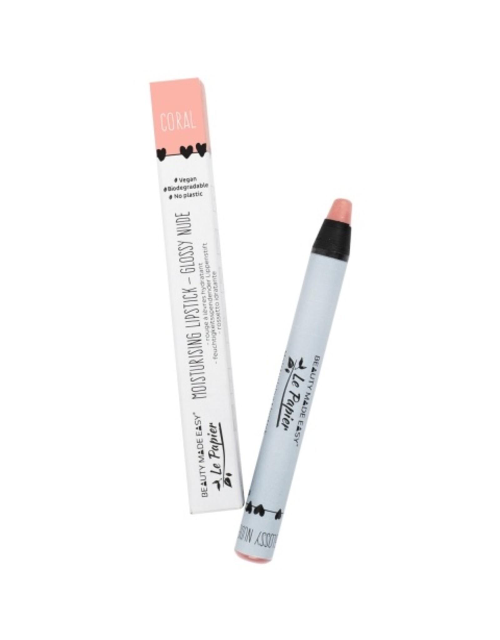 Le papier Moisturizing lipstick - Glossy Nudes - CORAL - 6 g