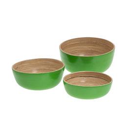 Bamboeschalen - garden groen (set)