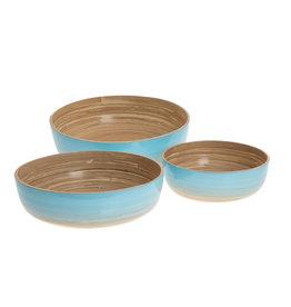 LO tableware Bamboeschalen - Oceaan blauw (set)