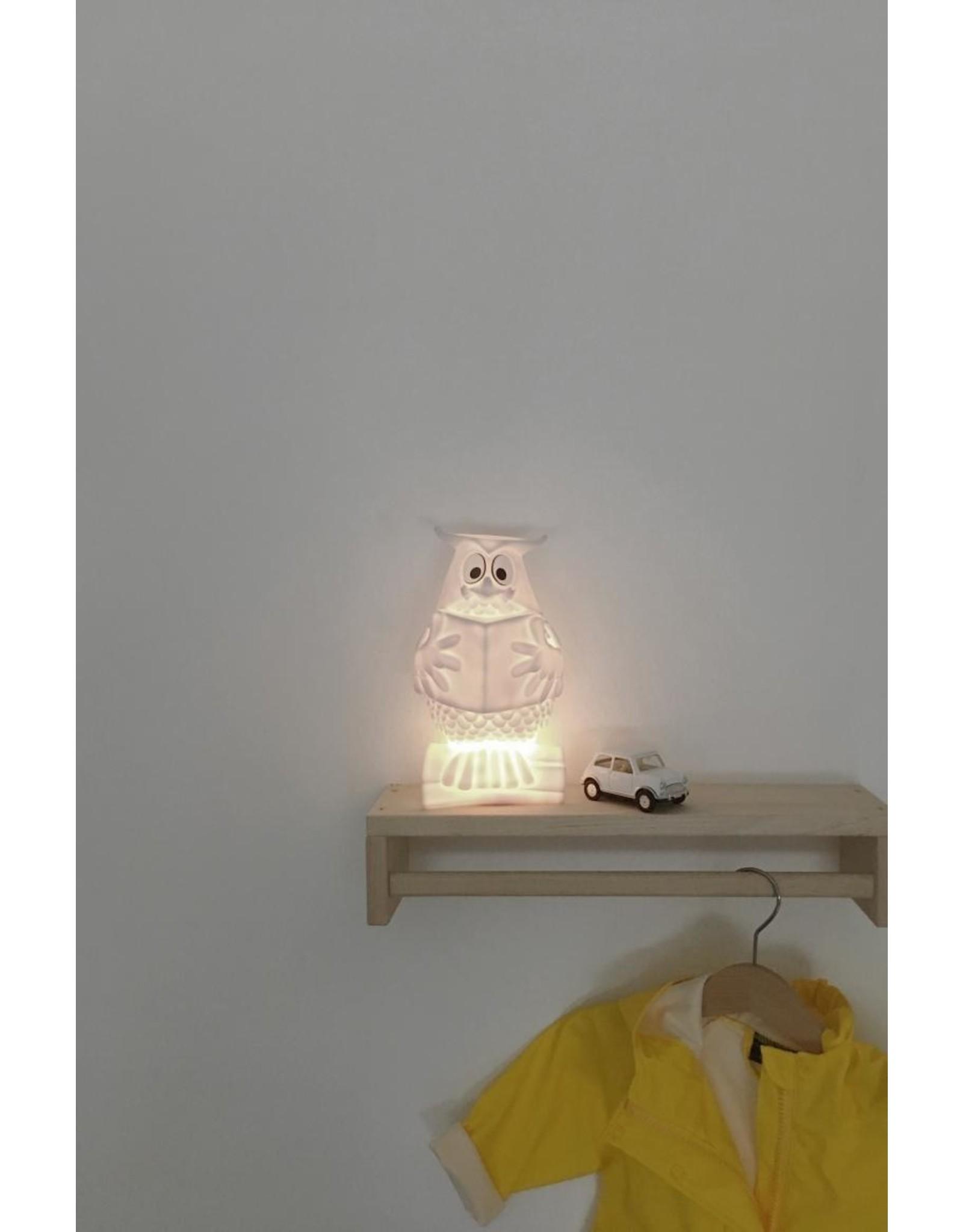 Atelier Pierre Meneer de Uil wit nachtlampje USB recharge | 11,8