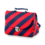 Schooltas small 'Stripe Navy'