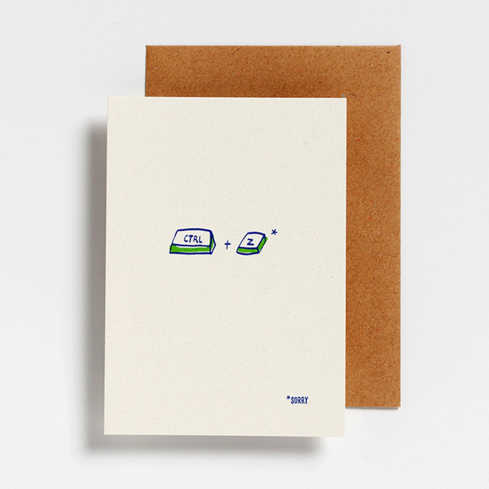 Postkaart - CTRL + Z sorry
