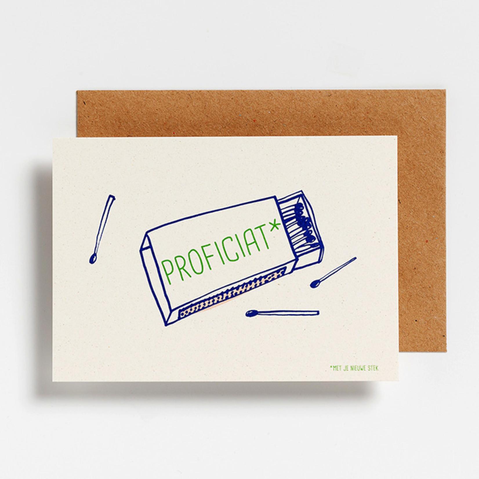 Postkaart - Proficiat nieuwe stek