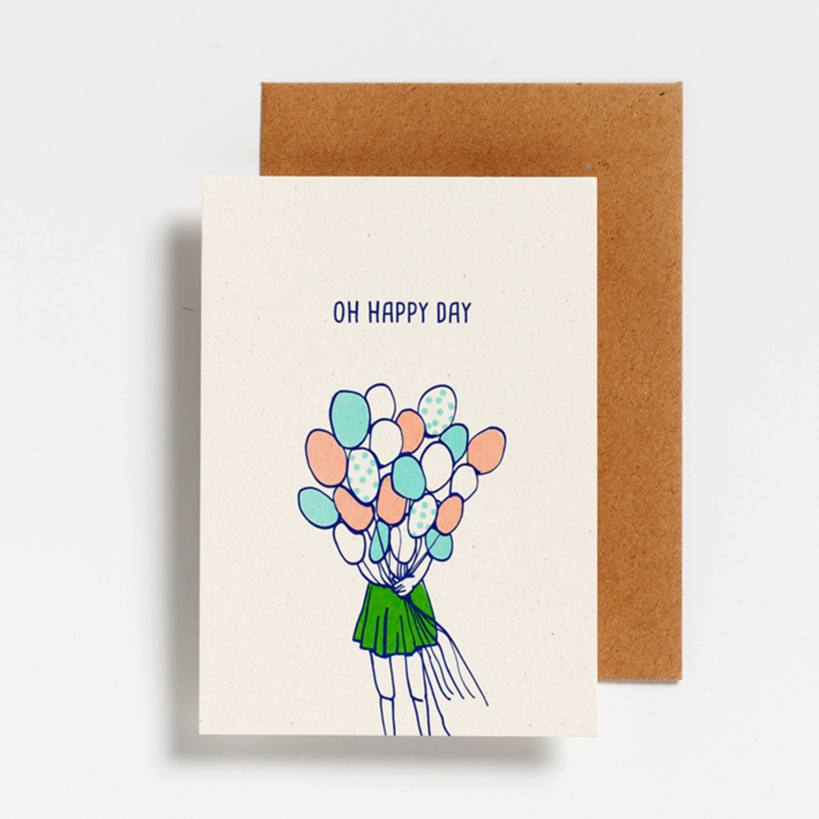 Postkaart - Oh happy day
