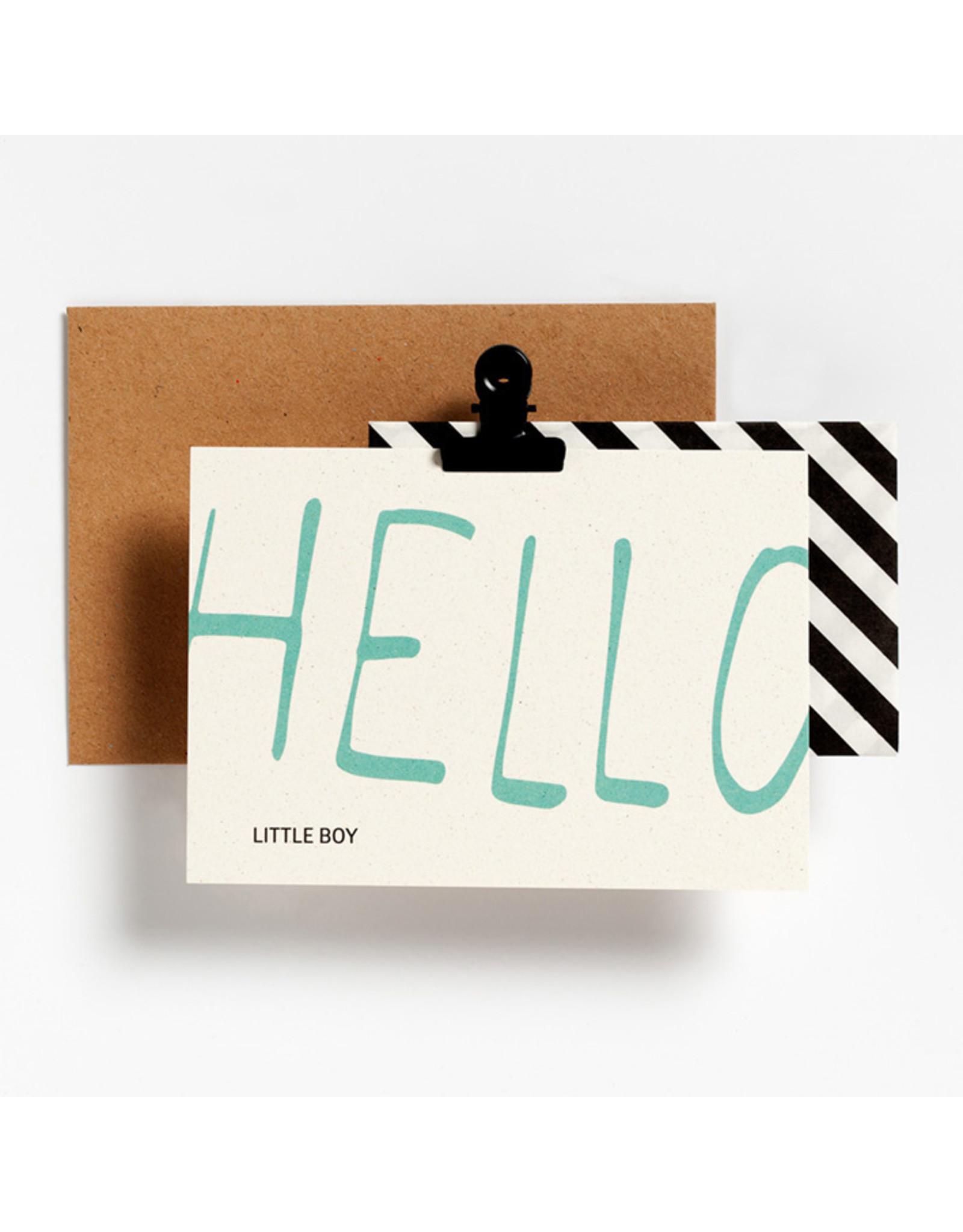 Postkaart - Hello little boy