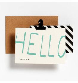 Hello August Postkaart - Hello little boy