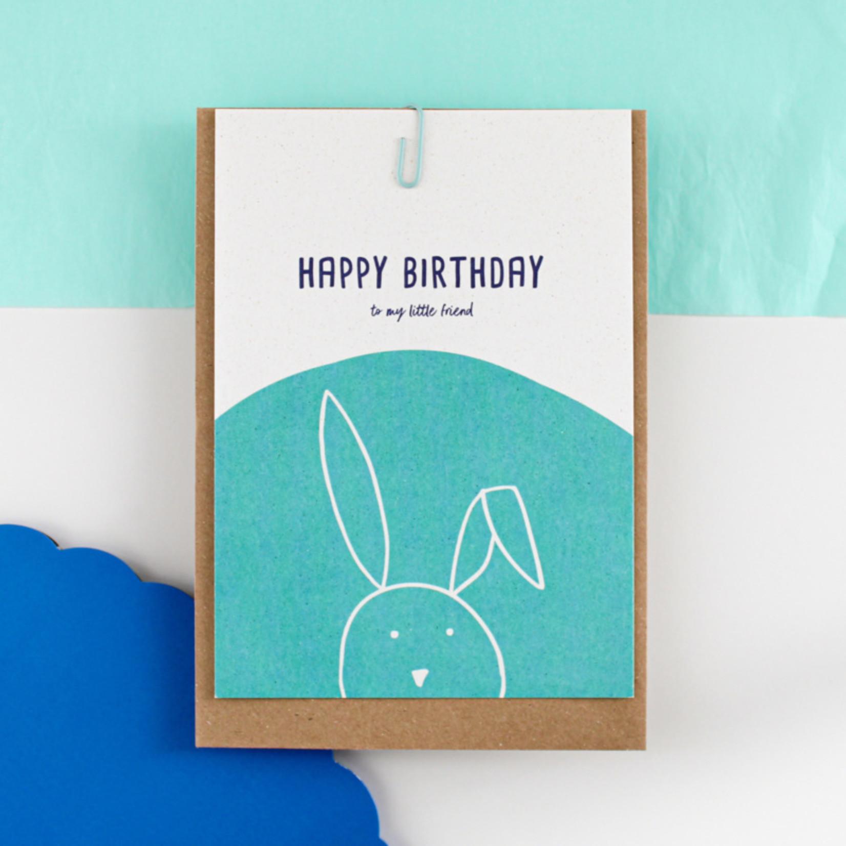 Postkaart - Happy Birthday to my little friend
