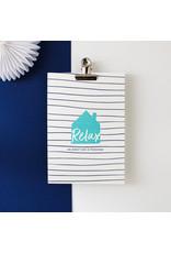 Hello August Postkaart - Relax en geniet van je pensioen