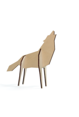 nORDIC Houten 3D puzzel WOLF (small)
