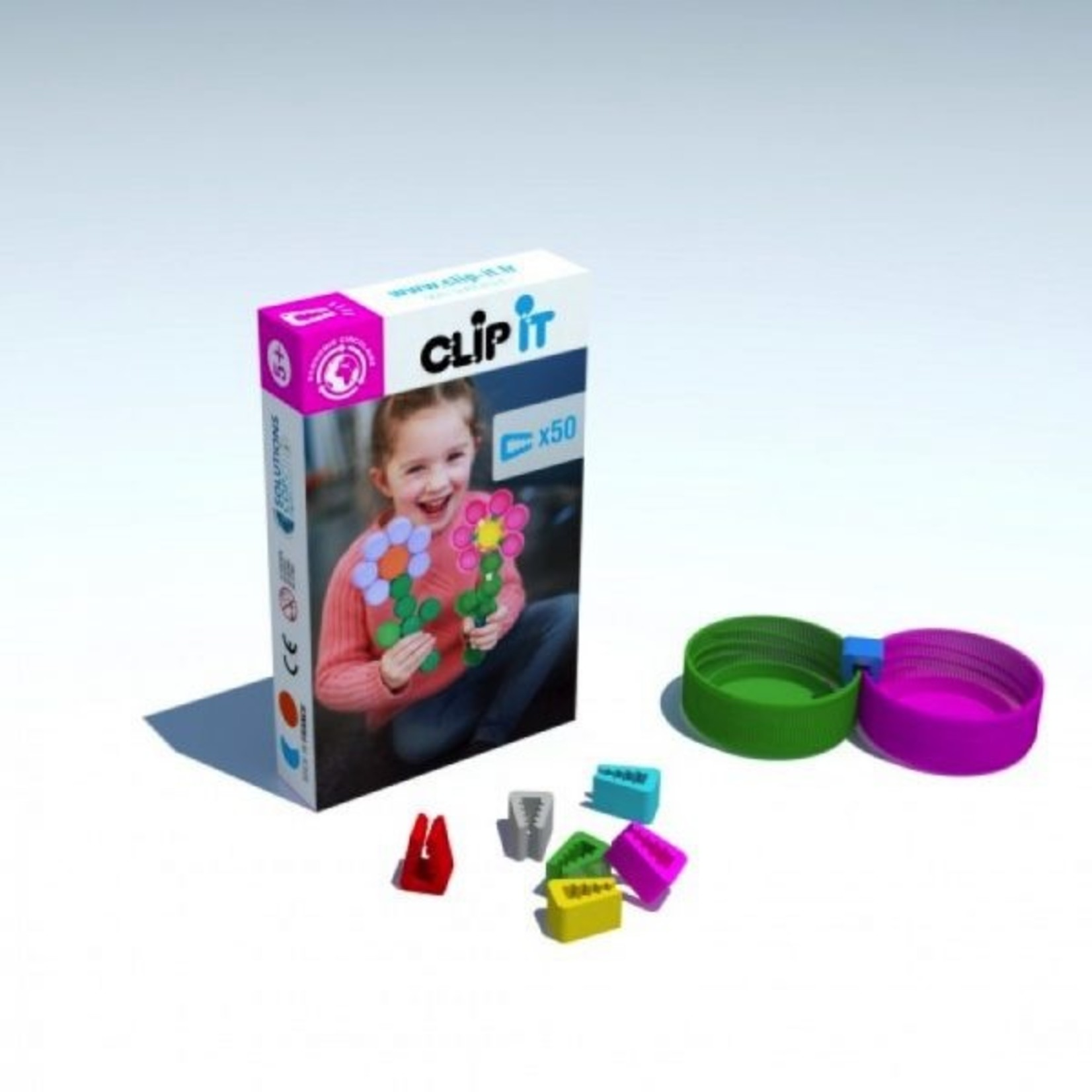 Clip-it 50 clips - bloem