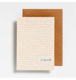 Hello August Postkaart - On my mind