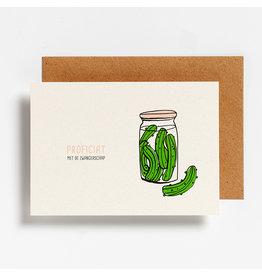 Hello August Postkaart - Proficiat met de zwangerschap
