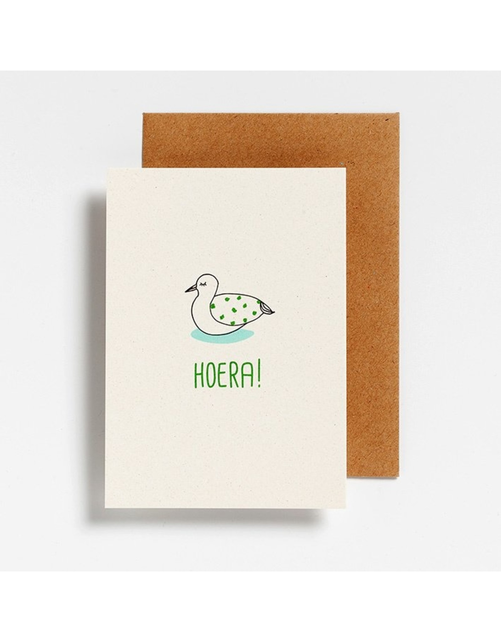 Hello August Postkaart - Hoera!