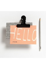 Hello August Postkaart - Hello little girl