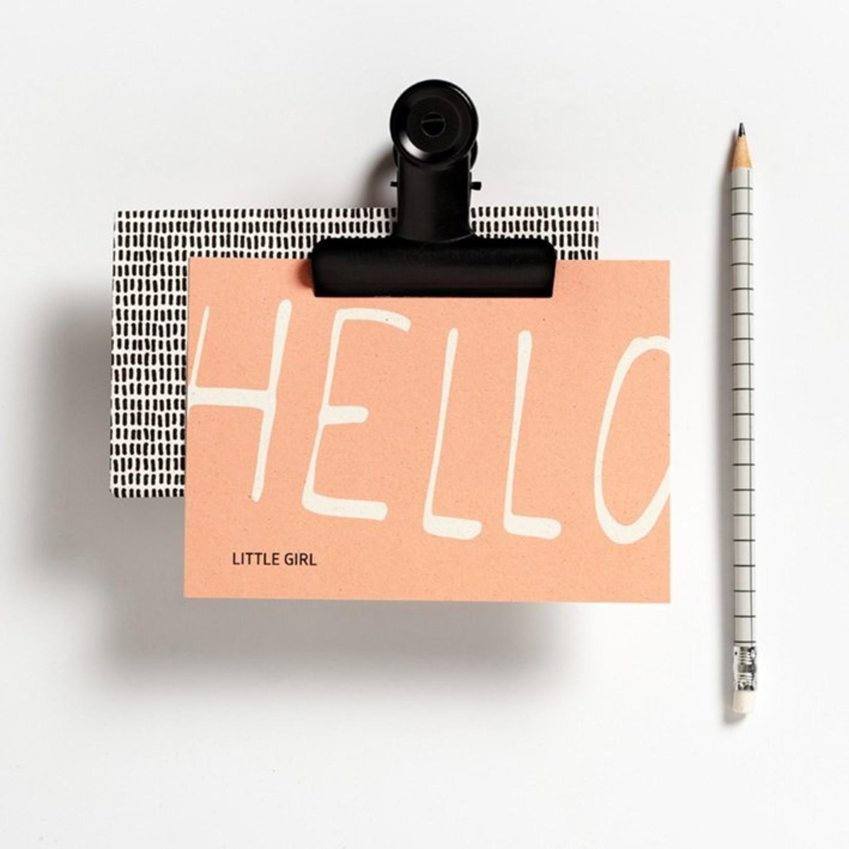 Postkaart - Hello little girl