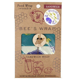 "Bee's wrap Sandwich ""Wildlifepack"" 2-pack"