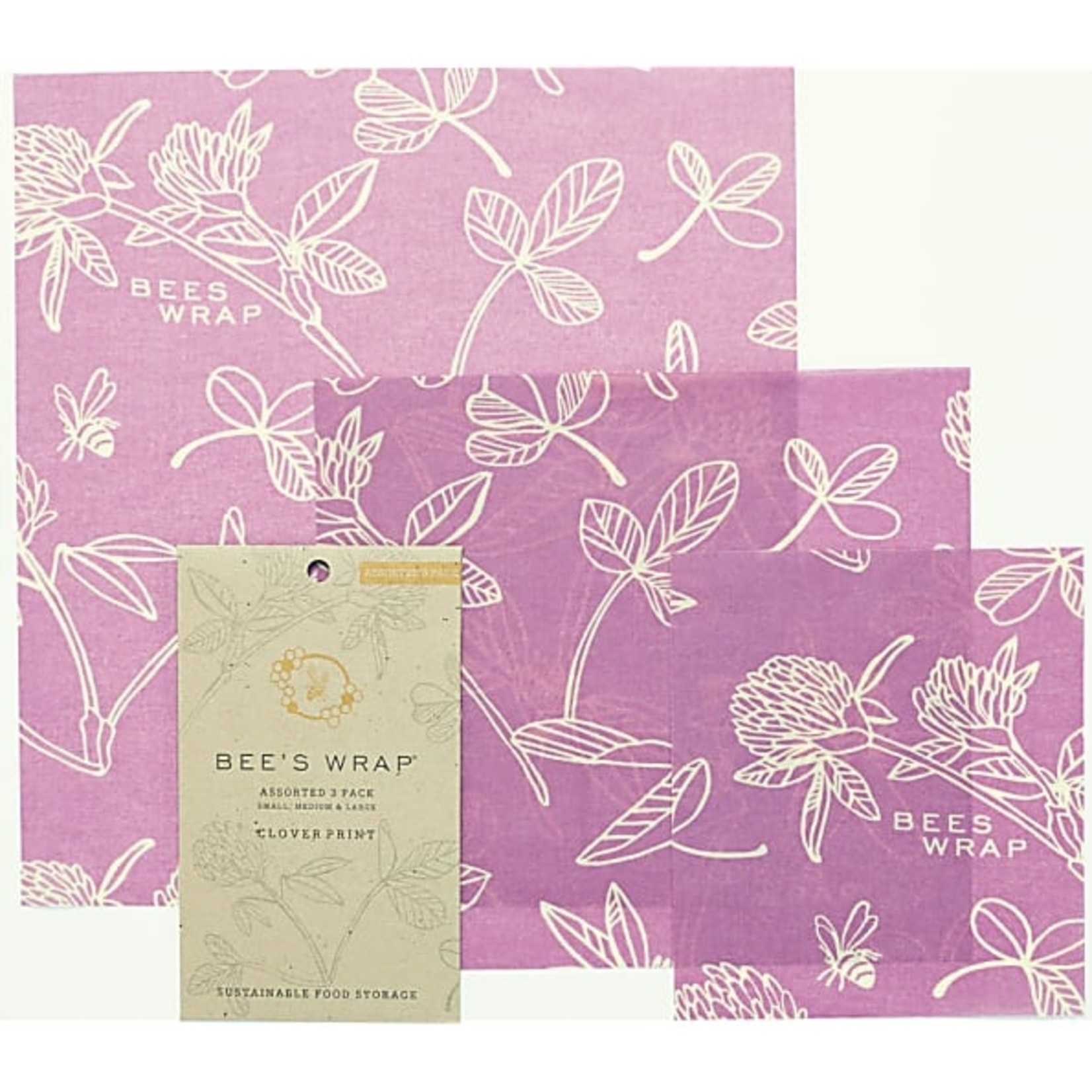 """Bee's wrap 3-pack Assorted """"Mimi's Purple"""""""