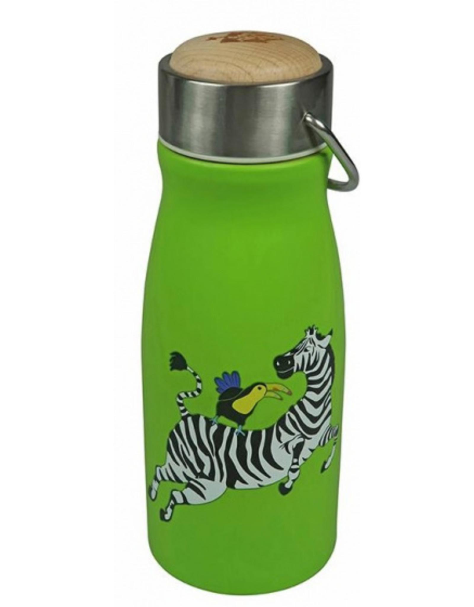 The Zoo Thermosfles RVS dubbelwandig - Zebra