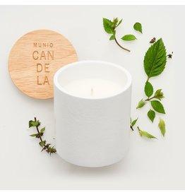 Munio Candela Wit kaarsvotief met pepermunt geur