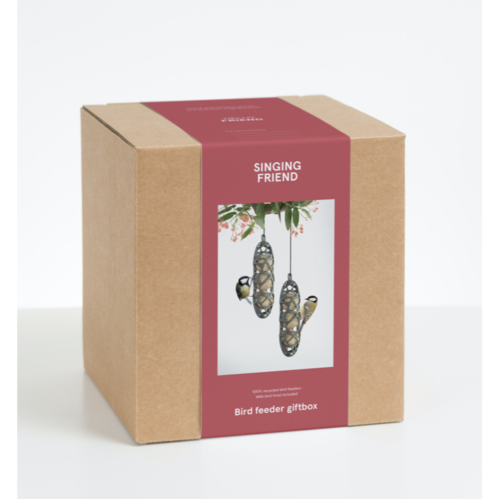 Gift box wildbird feeder 2x Sam + wildbird food