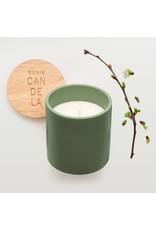 Munio Candela Green ceramic votive with apple blossom fragrance 300ml