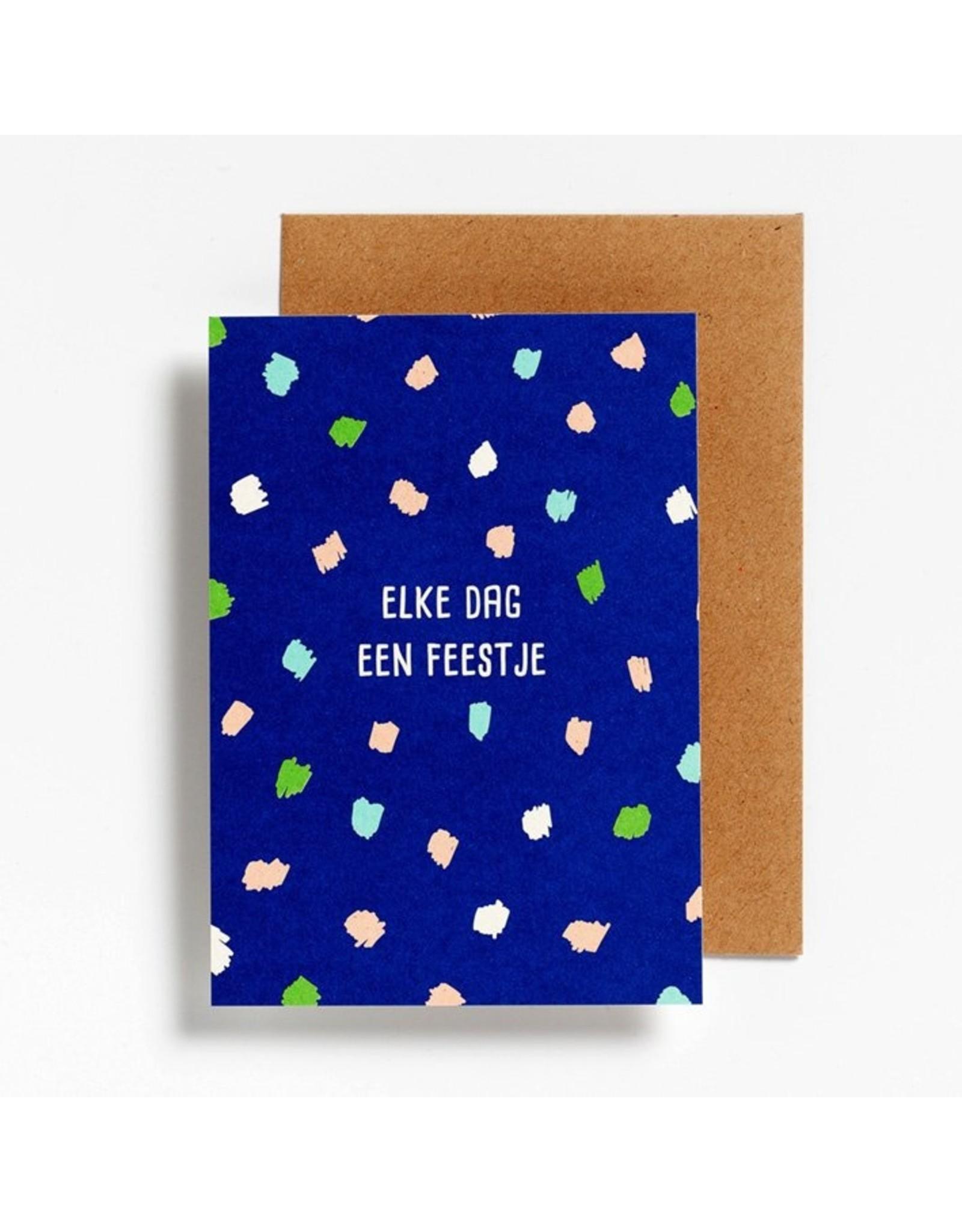 Postkaart - Elke dag een feestje
