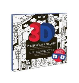 OMY Kleurposter 3D videogame