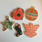Kerstdecoratie collectie familie