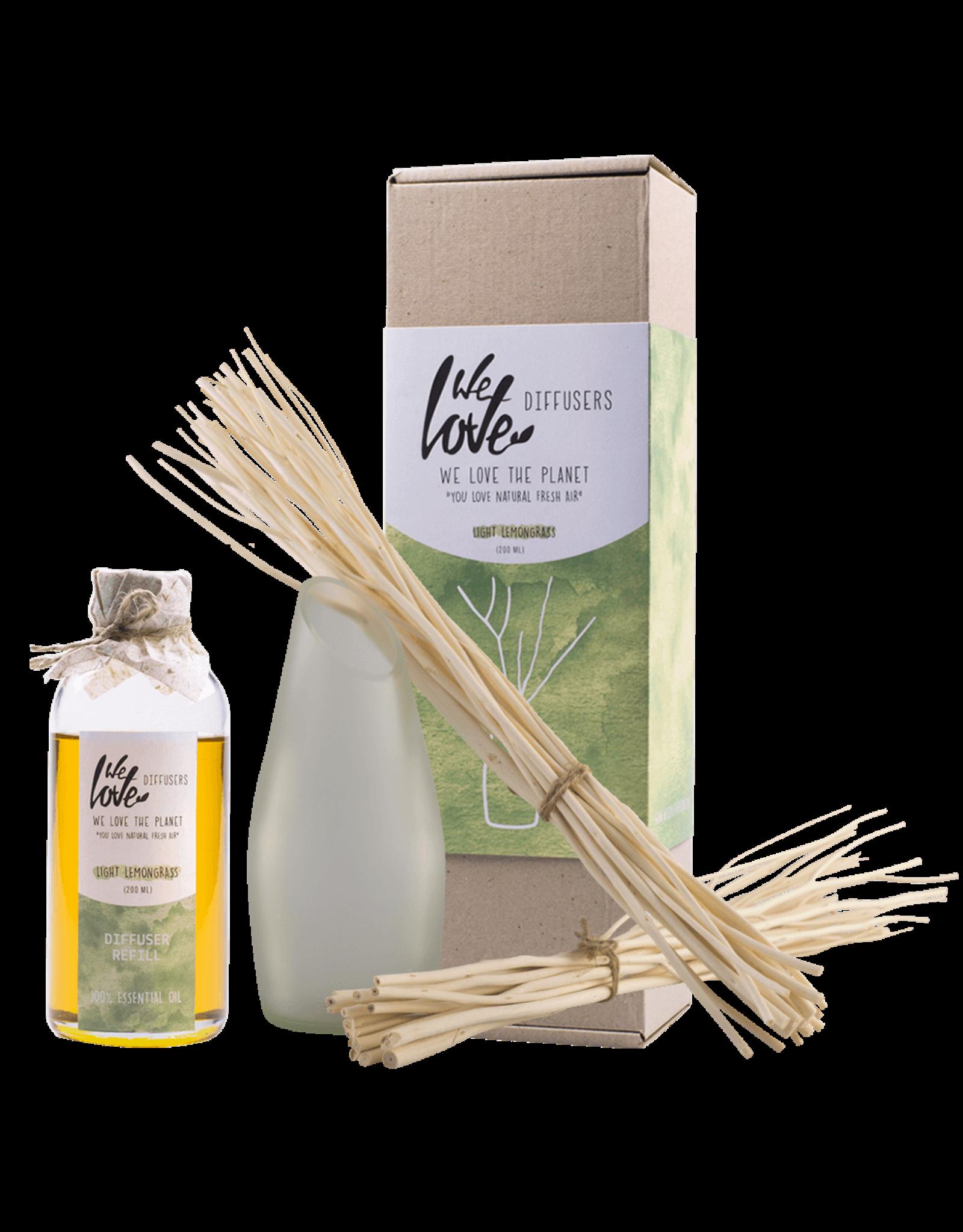 We Love The Planet Diffuser set 200ml (essential oil) Light Lemon Grass